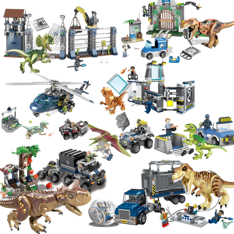 Jurassic World 2 Blue Owen Indoraptor Rex T. Rex Fallen Kingdom Sets Compatible Legoinglys Dinosaurs Toys Building Block 2 pcs set xl jurassic dinosaurs indominus rex and t rex gyrospheres