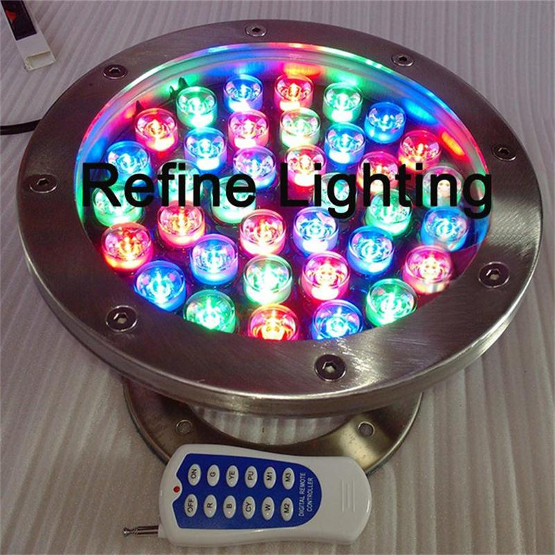 Underwater LED RGB 36W IP68 Swimming Pool Light For Piscine Iluminacao Outdoor Fountain Lights Project Decor LED Underwater Lamp ложка chicco