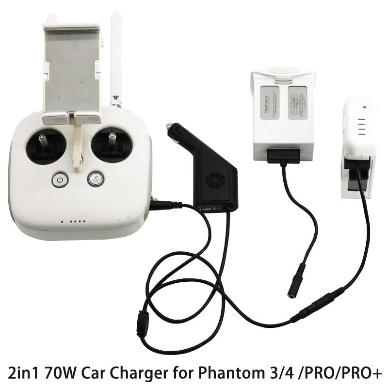 2in1 70W <font><b>Car</b></font> <font><b>Charger</b></font> Intelligent <font><b>Battery</b></font> <font><b>Charger</b></font> General Use <font><b>Smart</b></font> for DJI Phantom 3/4 /PRO/PRO+