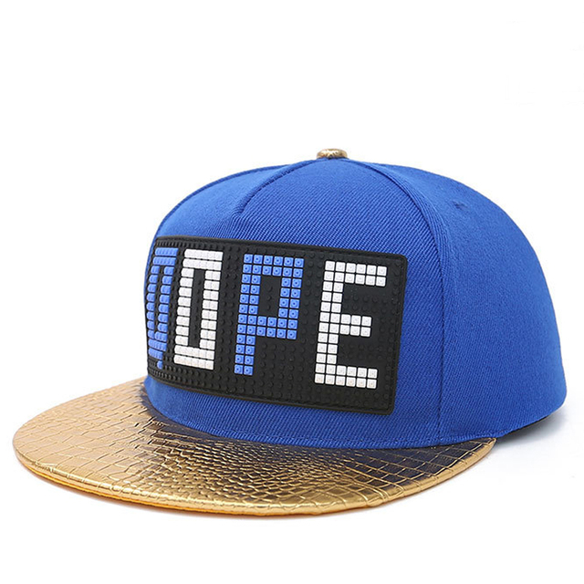 Unisex carta Hip Hop Caps sombreros de ala plana gorra de béisbol ajustable  viajes playa Sunhat 9e17a9ddb3c