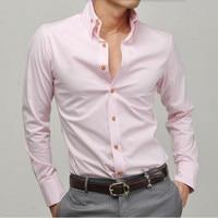 Men New Style Shirt Tailor Made Long Sleeve Groom Shirt White Formal Work Shirt High Quality