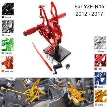 CNC Aluminum Adjustable Rearsets Foot Pegs For Yamaha YZF R15 YZF-R15 2012 2013 2014 2015 2016 2017 cnc racing rearset adjustable rear sets foot pegs fit for yamaha yzf r15 2012 2013 2014 2015