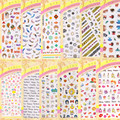 Ver detalle grandes ojos Más Nuevo 1 serie LY 3d nail art stickers nail art decal stampingwholesale