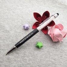 تصميم جديد قلم اللمس الماسي شخصية أقلام الكريستال مكتب مدرسة تعزيز هدية مجانية حسب الطلب مع شعار/اسم الشركة