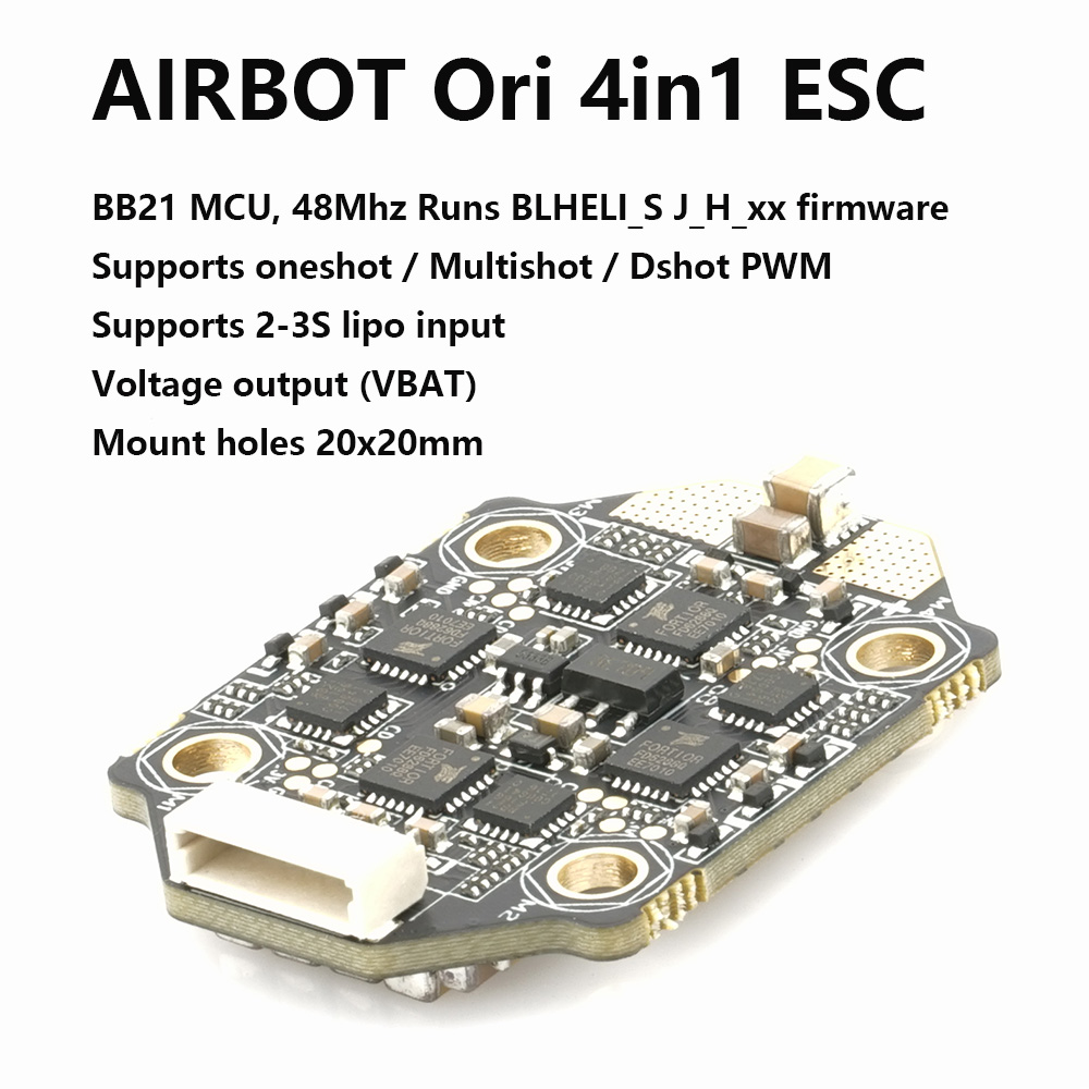 AIRBOT Brushess ESC Ori 4in1 4x25A 2020 Supports DSHOT 600 Blheli_s 25a Built Current Sensor Brushed ESC 30a For Fpv Quadcopter airbot brushess esc ori 4in1 4x25a 2020 supports dshot 600 blheli s 25a built current sensor brushed esc 30a for fpv quadcopter