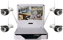 Z-BEN ZB-WK204-1.3 MP 2.4G 4CH Wireless Surveillance KIT 4 WIFI IP 960P CCTV Cameras With 1080P WIFI NVR and 10 Inch DVR