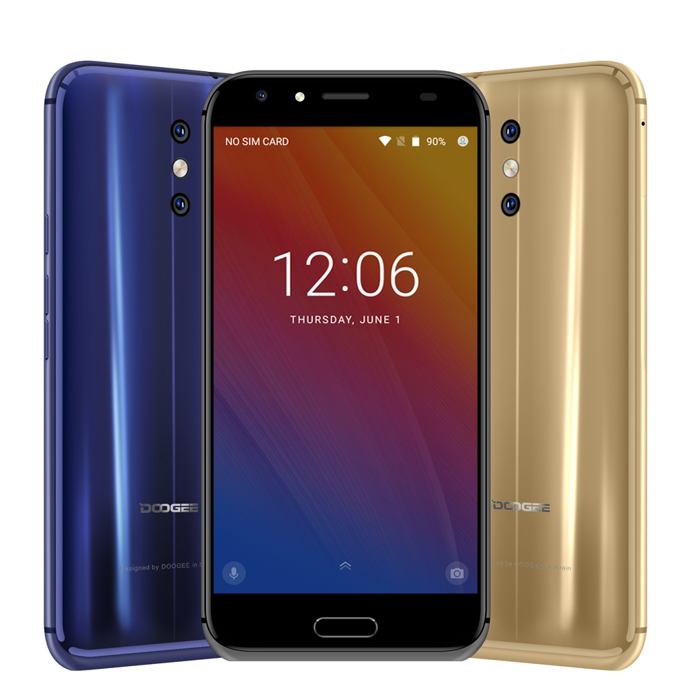 Doogee BL5000 Mobile Phone 5050mah Quick Charge 13MP Dual Back lens Front Touch ID 5.5 Inch FHD MT6750T Octa Core 4G Smartphone