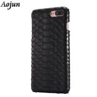 Top Quality Natural Real Python Snake Skin Case For Apple IPhone 7 7 Plus Protective Mobile