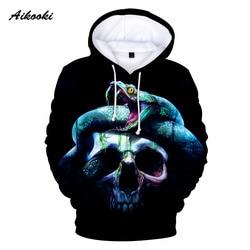Aikooki Cool Skull 3D Hoodies Men Women 2019 Fashion Print Sweatshirt 3D Hoodie Men Funny Casual Sweatshirt Skull 3D Hoodies XXS 3