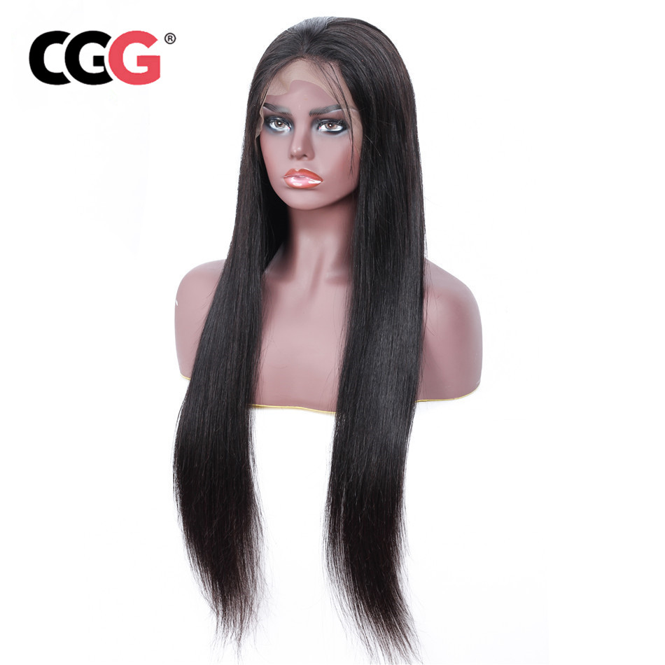 CGG Brazilian Lace Front Wigs Natural Color Human Hair Wigs For Black Women 130 Density Remy