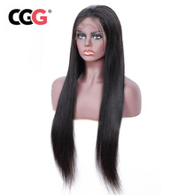 POLEEROSE Brazilian 4X4 Lace Wigs Natural Color Human Hair Wigs For Black Women 130% Density Remy Lace Front Wigs Pre Plucked