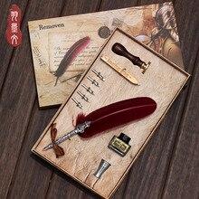 Гарри Поттер Ручка перьевая, подарочный набор, английская каллиграфия, европейская ретро Готическая ручка nib