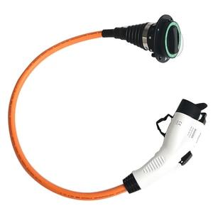 Image 2 - 32A Einphasig Elektrische Fahrzeug Auto EV Ladegerät SAE J1772 Buchse Typ 1 Zu Typ 2 EV Auto Adapter Lade stecker 1.64Ft Kabel