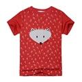 2016 Nuevos Muchachos Del Verano Camiseta de Manga Corta Ropa de Los Muchachos Niños del Algodón Que Arropan Cabritos de La Manera Camisetas para Niñas de Dibujos Animados Camisetas