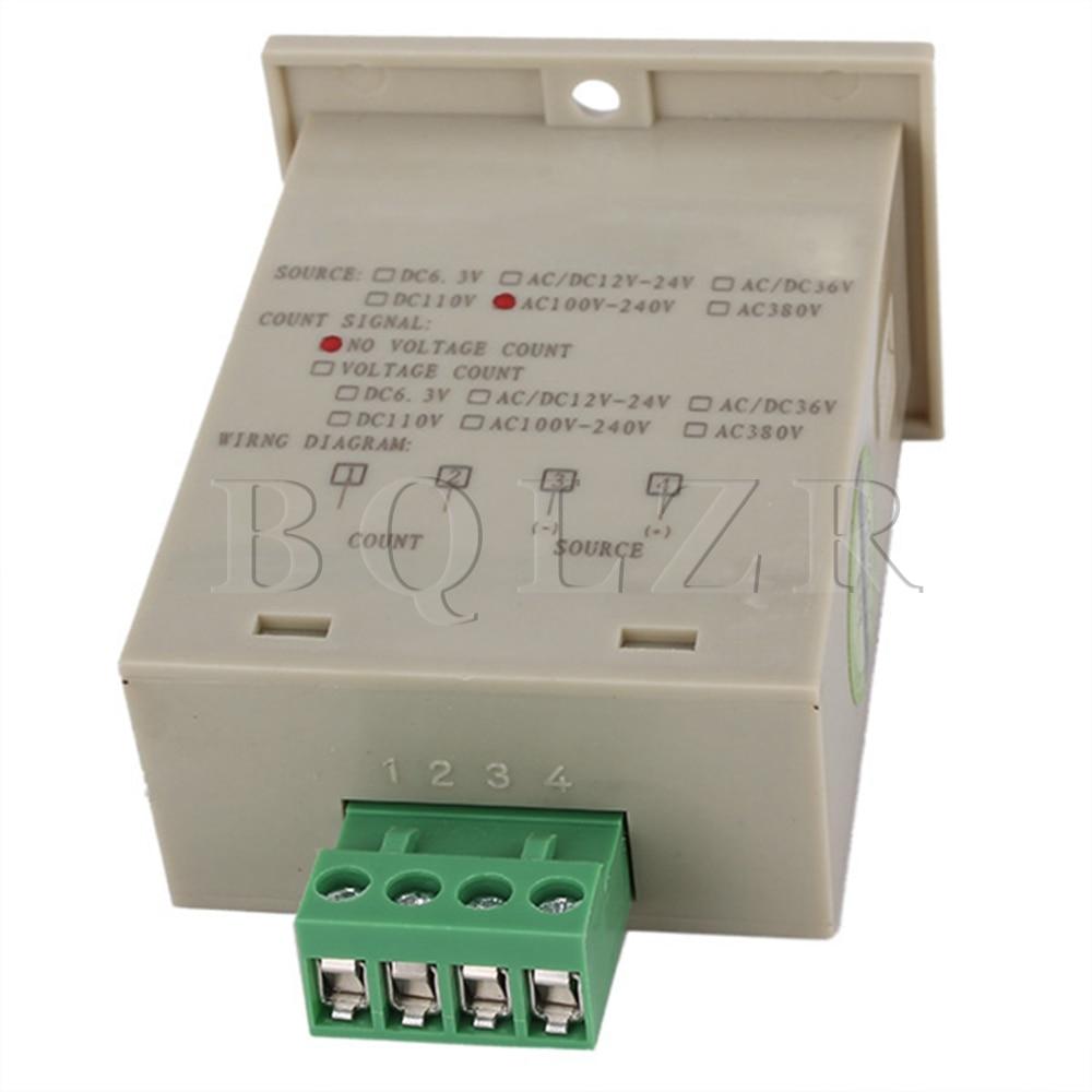 цена на BQLZR Grey Digit Display Electronic Counter JDM11-6H AC 220V Production Counting