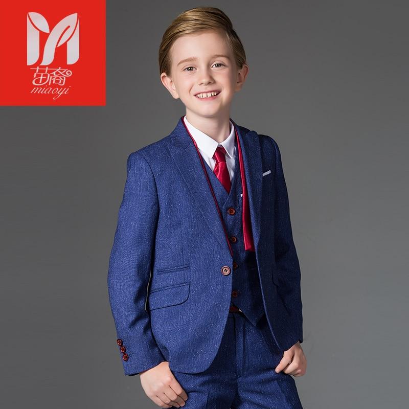 Boy suits Blazers British children's dress in the big children's flower dress performance service chair leisure suit jacket