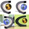 C Shape Black Blue LED World Map Decor Home Electronic Magnetic Levitation Floating Globe Antigravity LED