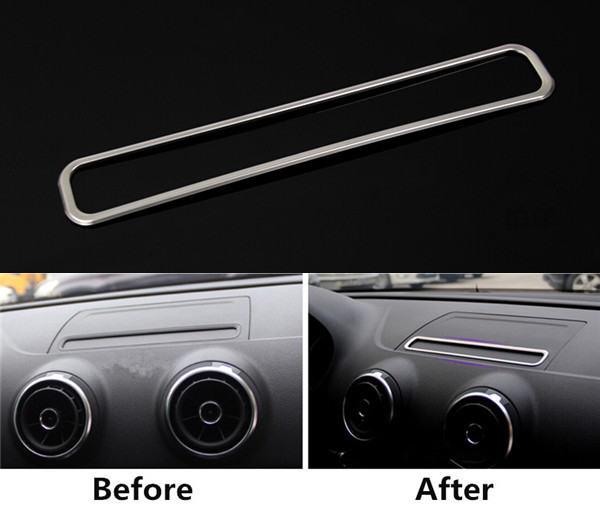 car styling car navigation decorative frame cover trim interior accessories stainless steel. Black Bedroom Furniture Sets. Home Design Ideas