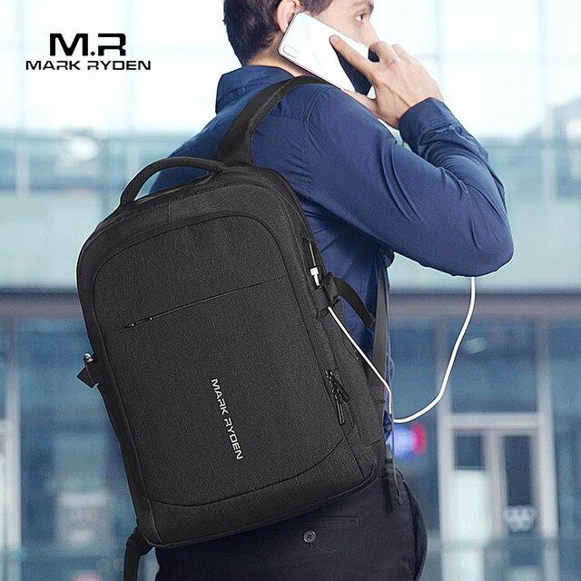 Mark Ryden 2020 nowy plecak męski USB wielofunkcyjne do ładowania 15 cal laptopa torby męskie moda mężczyzna Mochila podróży plecak