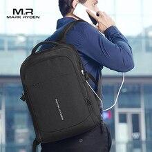Mochila multifunción con carga USB para hombre, morral de viaje para ordenador portátil de 15 pulgadas, a la moda, Mark Ryden, 2020