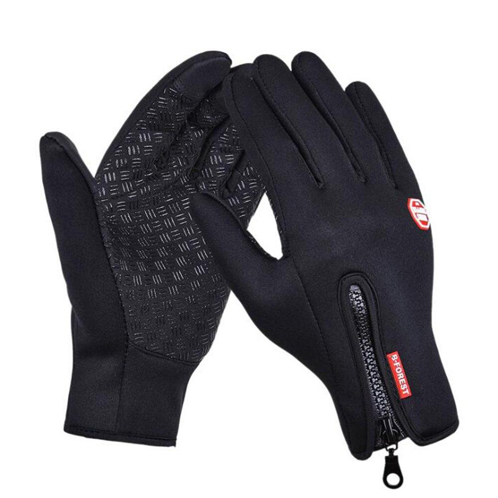 Original Outdoor Sport Wandern Winter Fahrrad Bike Radfahren Handschuhe Für Männer Frauen Windstopper Simulierte Leder Weiche Warme Handschuhe