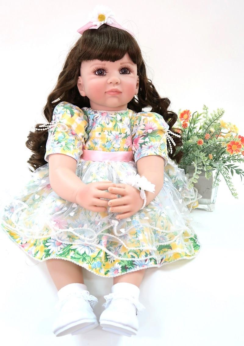 60cm Silicone Vinyl Reborn Baby Doll Toys 24 Princess Toddler Babies Like Alive Bebe Girls Bonecas Lovely Birthday Xmas Gift60cm Silicone Vinyl Reborn Baby Doll Toys 24 Princess Toddler Babies Like Alive Bebe Girls Bonecas Lovely Birthday Xmas Gift