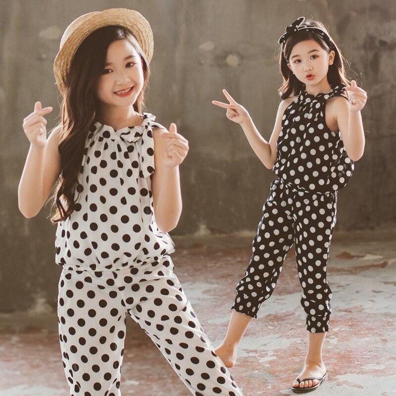teenager Girls Clothing Sets 2017 formal fashion pattern printing tops and shorts Kids Clothing Sets Children Clothing Счастье