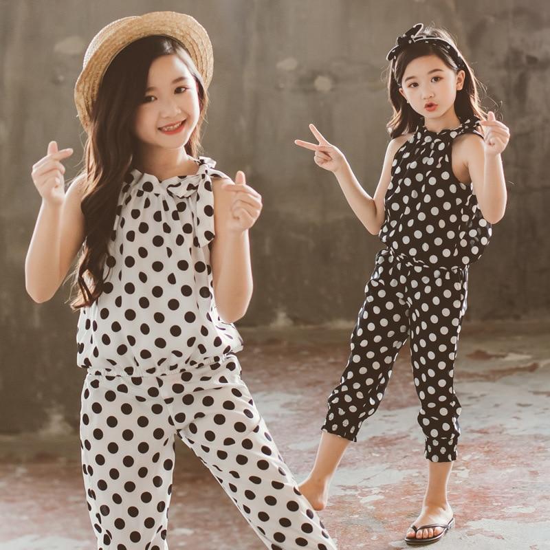 01dcc2eff Conjuntos de ropa para adolescentes niñas, Tops y pantalones de Chifón con  estampado Formal de