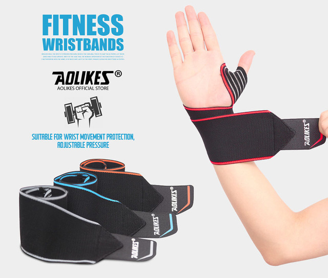 Recommend! 2pcs/lot Adjustable Sport Wristband Wrist Brace Wrap Bandage Support Band Gym Strap Safety sports wrist protector 4