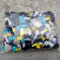 500PCS Universal Mixed Color Car Plastic Bumper Rivets Automotive Door Trim Panel Clip For Mercedes Benz