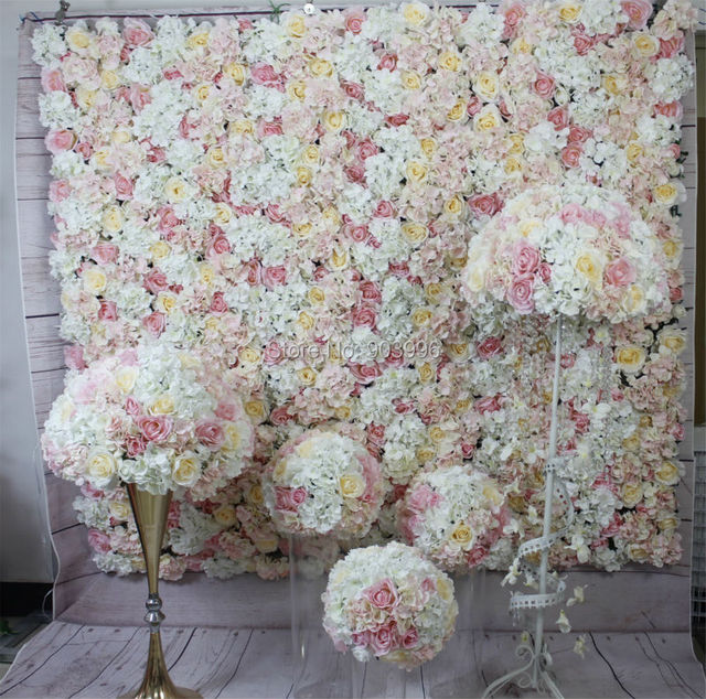 Pink Series Artificial Rose Wedding Flower Wall Backdrop Road Lead Table Centerpiece Ball For Party Market In Dried Flowers From