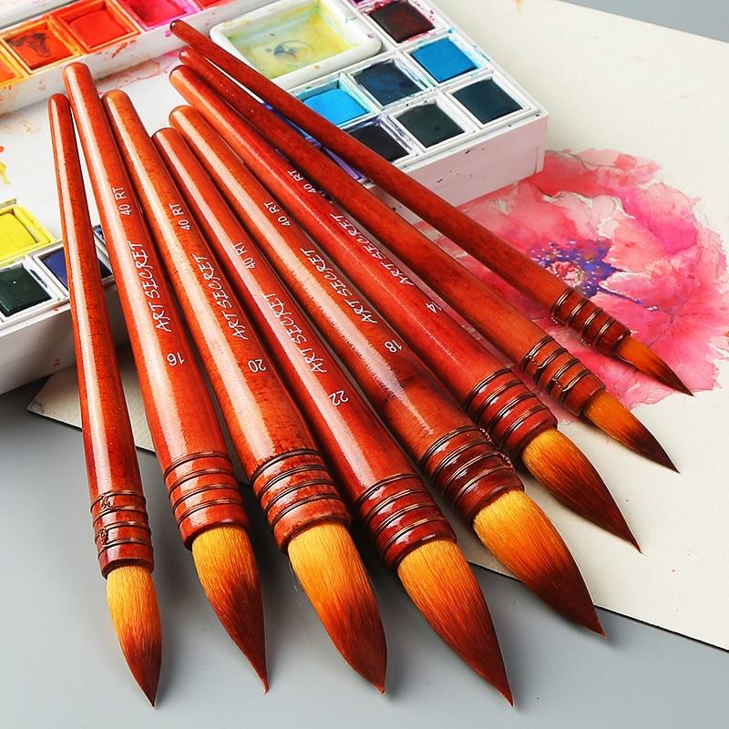 Купить с кэшбэком 1Piece Nylon Hair Watercolor Paint Brush Ancient Rhyme Style Acrylic Painting Brush Art Supplies 40RT