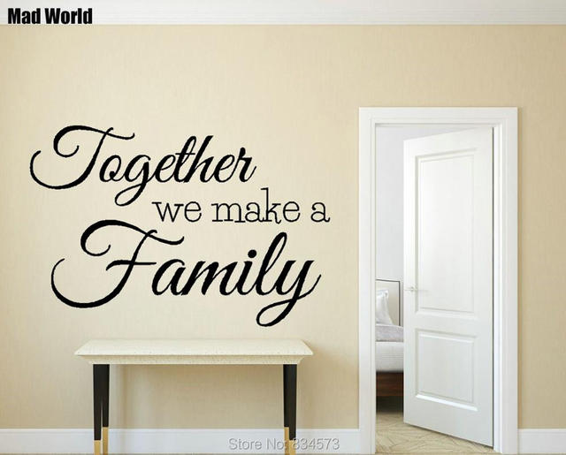 Captivating Mad World Together We Make A Family Quote Wall Art Stickers Wall Decal Home  DIY