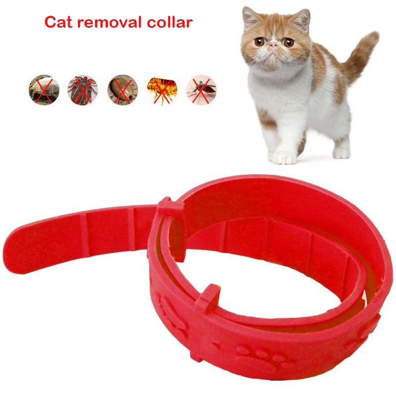 2pcs Pet Cat Flea Collar Adjustable Against Anti Tick Quick Kill Remove Pet Protect Repel Rubber Necklace Gift For Cat Supplies