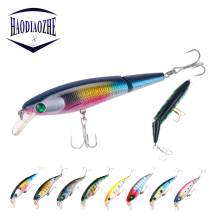 Купить с кэшбэком 1pcs Jointed Fishing lures Minnow 10.5CM/15G Hard Bait Plastic Artificial Wobblers Fishing Tools Jerkbait fish Isca Pesca Tackle