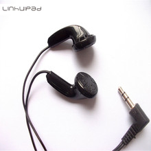 hot deal buy disposable black stereo earphones headphones cheap earbuds 50pcs/lot fedex shipping