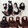 Kids Toy High Quality Doll Head with Black Brown Hair DIY Accessories For Barbie Doll For 1/6 BJD Doll House