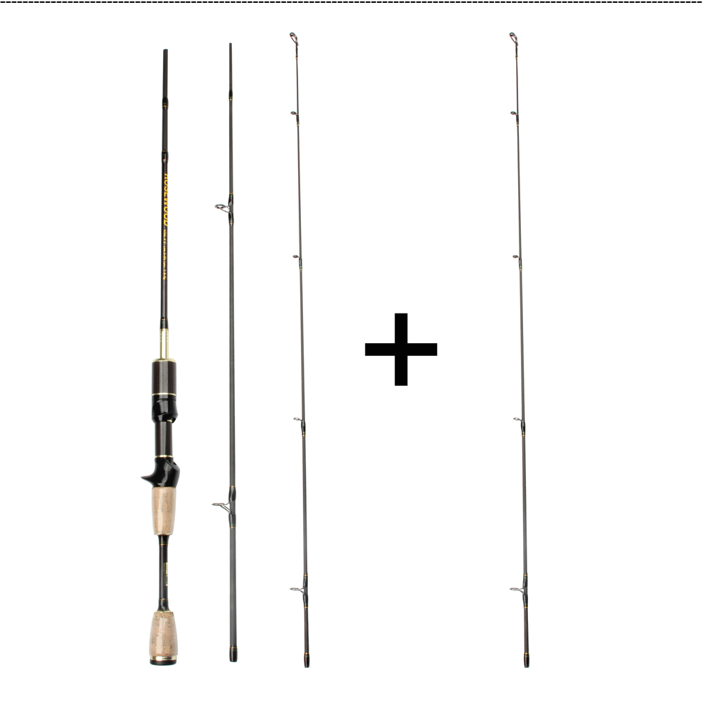 Cheap UL Casting Spinning Fishing Rod 1.8m Ultra Light Carbon Fiber Rods 2 Top Tips 3 Sections Lure Weight 0.8-5g Tackle Pesca  (2)