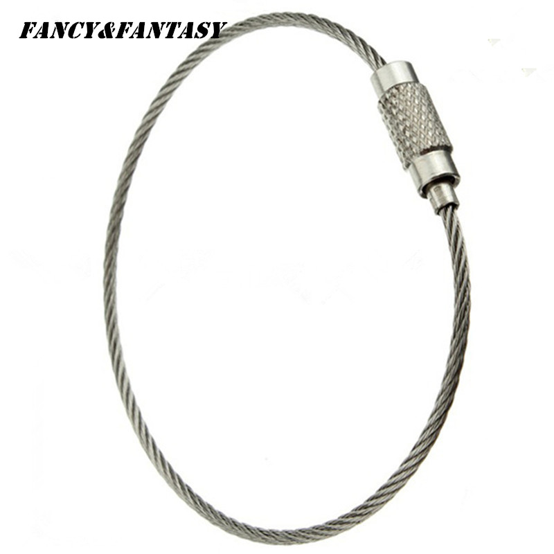 41e4056cf2 Fancy&Fantasy New 5pc Stainless Steel Screw Locking Wire Keychain Metal Cable  Key Ring for Outdoor Hiking llaveros sleutelhanger-in Key Chains from  Jewelry ...