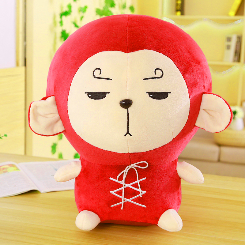 Stuffed animals plush soft toys kawaii red big ear plush toy monkey toys for children girlfriend gift children's birthday gift