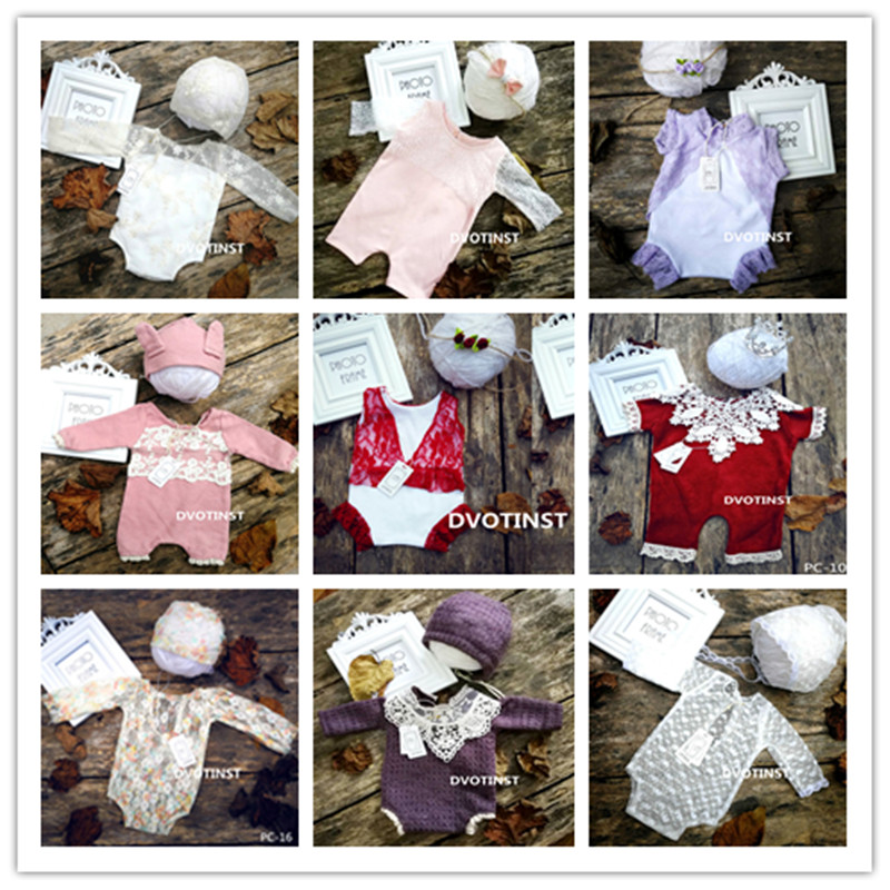 DVOTINST новорожденных Подставки для фотографий вязать крючком оголовье шляпа + комплект 2 шт. Fotografia аксессуар Studio снимает наряд для фотосессий