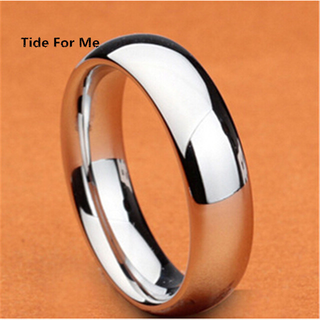 36pcs/lots New Wholesale Stainless Steel Ring Mens 6mm Silver Jewelry Gold Ring  Finger Rings