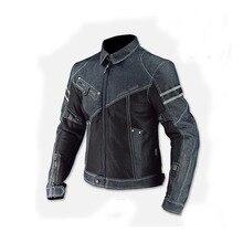 Новая мотоциклетная куртка Komine JK-006/гоночная куртка/джинсовый сетчатый гоночный костюм с защитным оборудованием