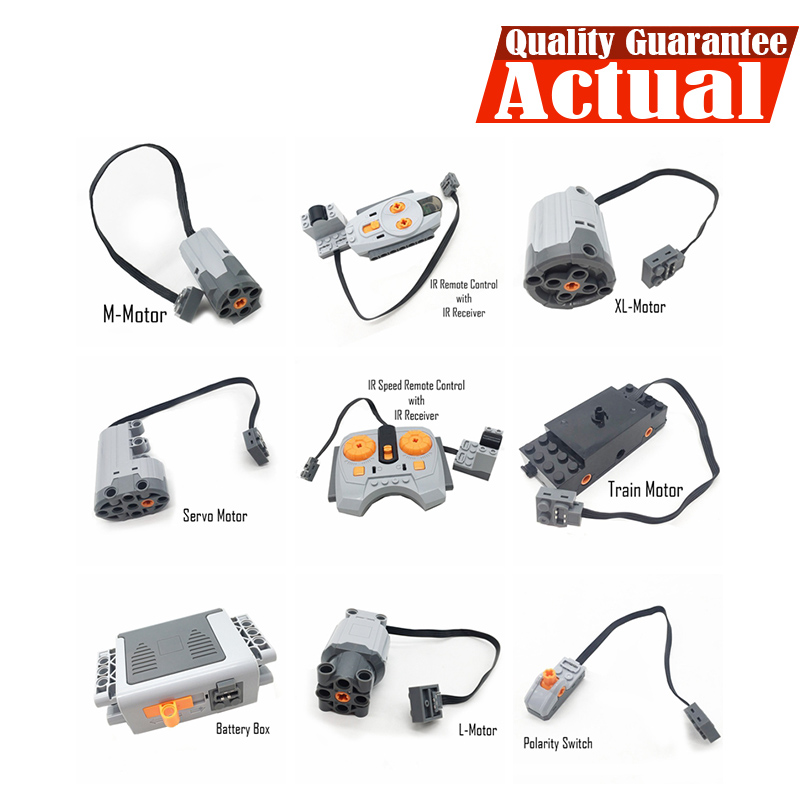 Technical Power Functions Servo Motor Polarity Switch Light Set IR Speed Remote Control Receiver Battery Box legoingly technic цена