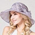 Verano sombreros de sun para las mujeres elegantes sombreros de Seda plegable Ladies boda iglesia sombreros