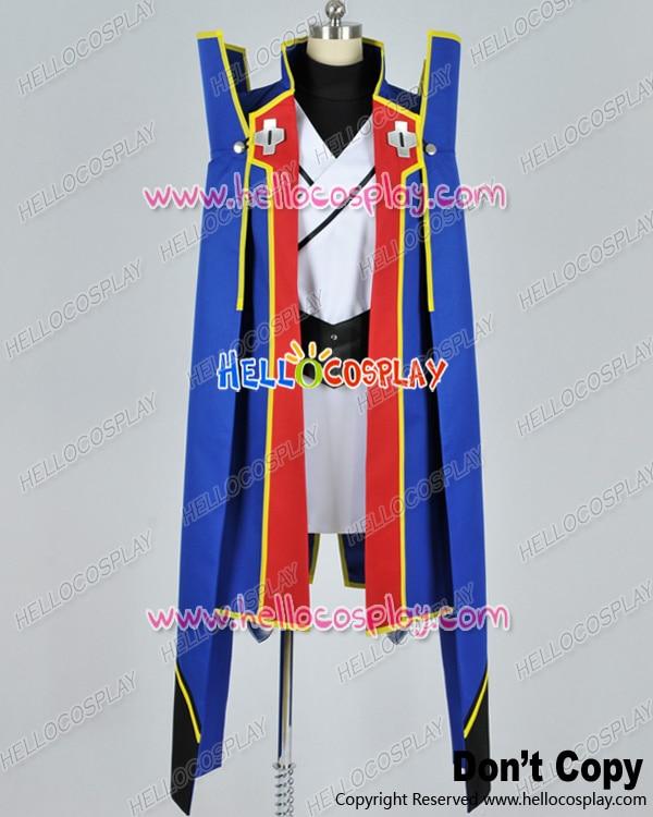 Japanese Anime Outfit BlazBlue Cosplay Jin Kisaragi Blue Uniform Costume H008