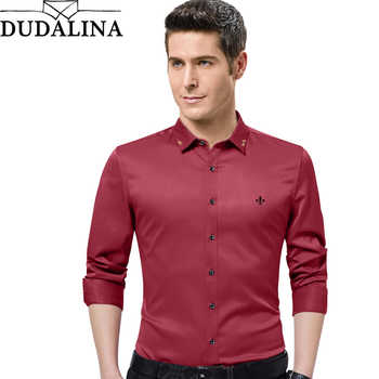 Dudalina 2019 New Male Men Shirts Male Long Sleeved Solid Color Cotton Slim Fit Men's Social Business High Quality Casual Shirt - DISCOUNT ITEM  35% OFF All Category
