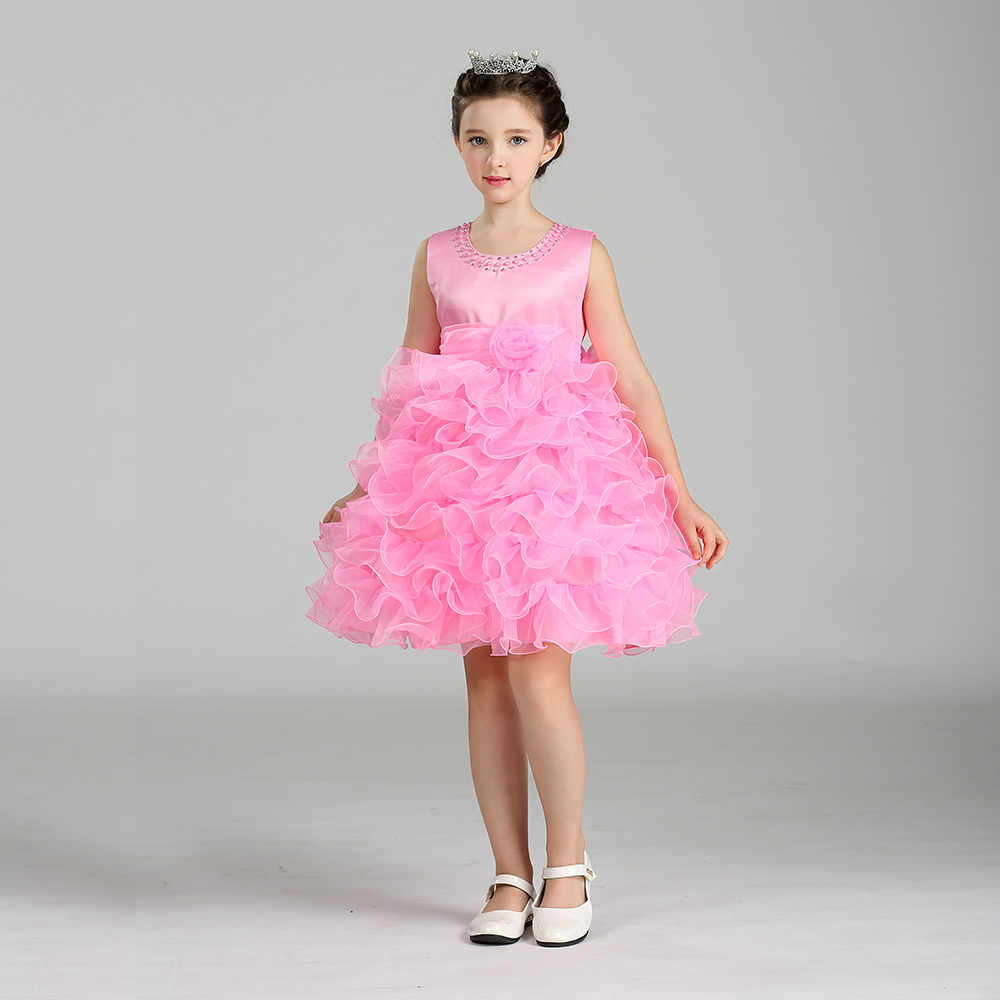 Factory Direct Girls Princess cake yarn dress baby girls party wear elegant tutu Dress LM8282 best selling girls lace dress baby ball gowntutu baby dress party factory price direct selling custom made