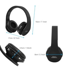 Bluetooth Wireless Headset Gaming Headphone Inbuilt Microphone Hifi Stereo Head-mounted Earphone for PS4 Black