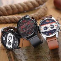 CURREN 2017Men Watch Luxury Brand Army Military Watch Men Leather Sport Watches Quartz Waterproof Wristwatch relogio mascul 8259 4